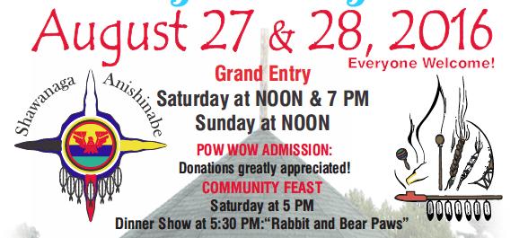 2016 Shawanaga Pow Wow – Aug 27 & 28