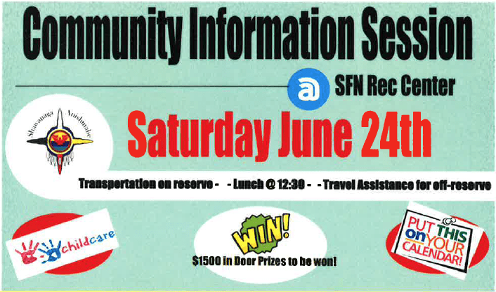 Community Information Session – Saturday June 24